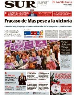 Portada de SUR | Noviembre de 2012
