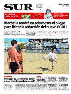 Portada de SUR (Edic. Marbella) | 01 de agosto