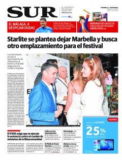 Portada de SUR (Edic. Marbella) | 05 de agosto