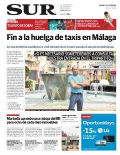 Portada de SUR (Edic. Marbella) | 17 de agosto