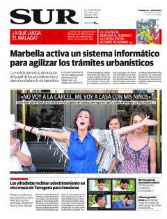 Portada de SUR (Edic. Marbella) | 23 de agosto