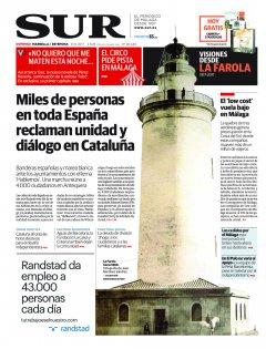 Portada de SUR (Edic. Marbella) | 08 de octubre