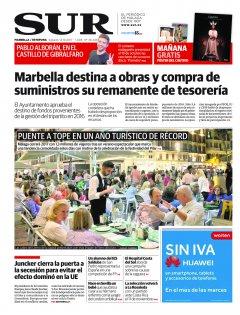 Portada de SUR (Edic. Marbella) | 14 de octubre