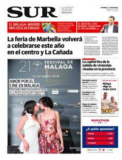 Portada de SUR (Edic. Marbella) | 14 de abril