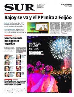 Portada de SUR (Edic. Marbella) | 06 de junio
