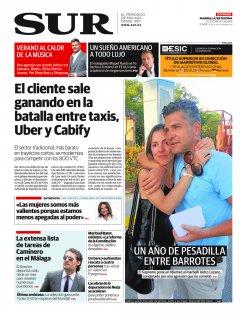 Portada de SUR (Edic. Marbella) | 10 de junio