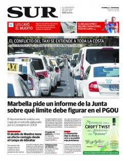 Portada de SUR (Edic. Marbella)   01 de agosto