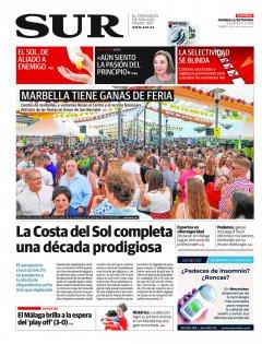 Portada de SUR (Edic. Marbella) | 09 de junio