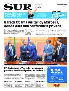 Portada de SUR (Edic. Marbella) | 14 de junio