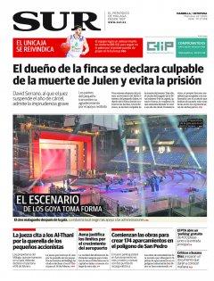 Portada de SUR (Edic. Marbella) | 22 de enero