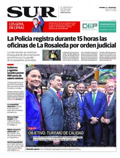 Portada de SUR (Edic. Marbella) | 23 de enero